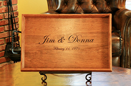 Custom Carved Serving Tray
