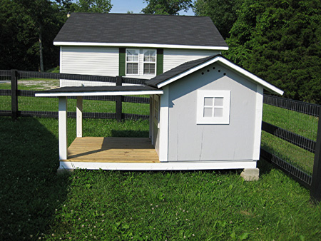 Custom Dog House with Shaded Porch