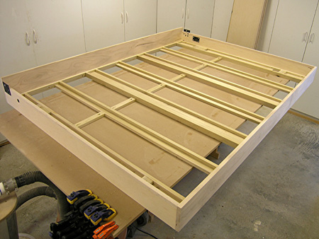 Solidly Constructed Wall Bed