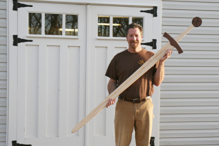Six Foot Wooden Sword Growth Chart