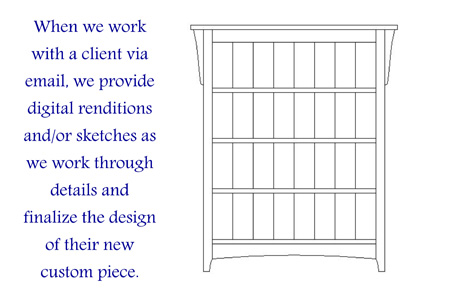 Arts & Crafts Bookcase Sketch