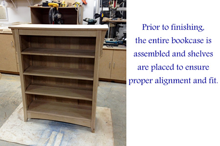 Unfinished American Craftsman Bookcase