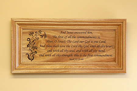 Framed Wall Art with Scripture Verse